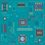 Circuit board vector background. Eps10 Stock Image