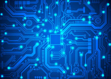 Circuit board vector background Stock Photo