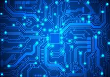 Circuit board vector background. Illustration Stock Photo