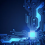 Circuit board vector background, vector illustration Stock Photography
