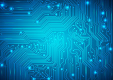 Circuit Board Vector Blue Background Stock Photography