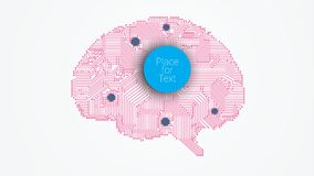 Circuit board vector brain Royalty Free Stock Images