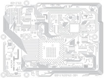 Circuit board vector computer drawing - electronic Royalty Free Stock Photography