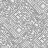 Circuit board vector computer seamless pattern Stock Illustration
