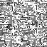 Circuit board vector seamless technological patter royalty free illustration