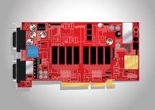 Circuit board. Vector illustration of a circuit board Royalty Free Stock Photos