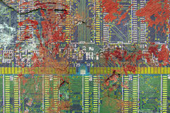 Circuit board wall texture Royalty Free Stock Image