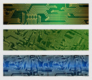 Circuit Board Web Banners Royalty Free Stock Image
