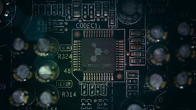 Circuit board and the world Royalty Free Stock Image