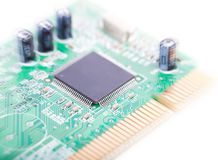 Circuit board (with zoom effect). Circuit board isolated on white background (with zoom effect Stock Photo