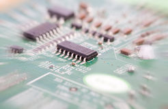 Circuit board (with zoom effect). Circuit board isolated on white background (with zoom effect Stock Photography