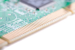 Circuit board (with zoom effect) Royalty Free Stock Images
