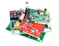 Circuit Boards. On white background Royalty Free Stock Photography