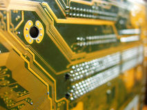 Circuit boards. Close up of circuit board stock photo