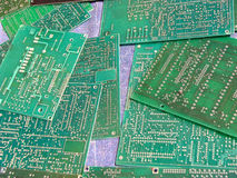 Circuit Boards Sale. Old circuit boards designed for new use in a repair shop to be sold later Stock Images