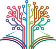 Circuit book logo Royalty Free Stock Photo