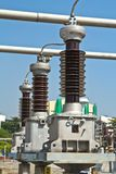 Circuit breaker high voltage Stock Photography