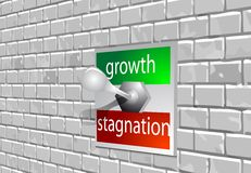 Growth stagnation Royalty Free Stock Photography