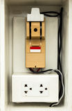 Circuit breaker and socket Royalty Free Stock Photos