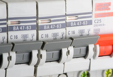 Circuit breakers Royalty Free Stock Photos