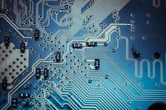 Circuit, carte mère, ordinateur et fond moderne de l'électronique Photographie stock libre de droits