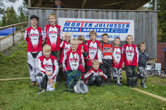 Circuit championship in bmx cycling, Aremark and Halden BMX team Royalty Free Stock Photo