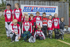 Circuit championship in bmx cycling, Aremark and Halden BMX team Stock Photo