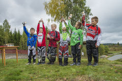 Circuit championship in bmx cycling, from the awards ceremony Stock Photography