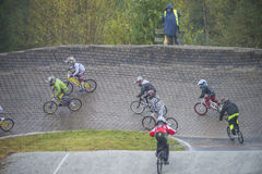 Circuit championship in bmx cycling Royalty Free Stock Image