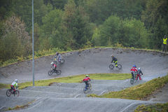 Circuit championship in bmx cycling Stock Image