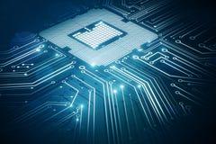 Circuit chip background Stock Photos