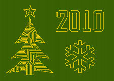Circuit Christmas tree Royalty Free Stock Image