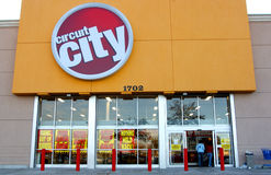 Circuit city bankrupt Royalty Free Stock Image