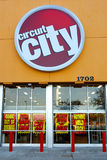Circuit city bankrupt. Circuit city store front with signs announcing its going out of business liquidation sale Stock Photos