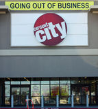 Circuit City Going Out of Business. FRISCO - JAN 30: Taken in Frisco, Texas January 30, 2009. Circuit City Electronics declares bankruptcy and closes stores Royalty Free Stock Images