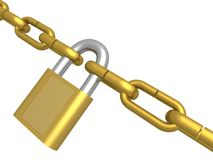 Circuit closed on the lock. Royalty Free Stock Images