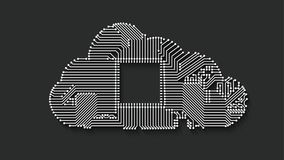 Circuit cloud computing Royalty Free Stock Images