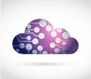 Circuit cloud illustration design Stock Image