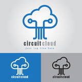 Circuit Cloud Logo Royalty Free Stock Photography