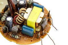 The circuit of a compact fluorescent Royalty Free Stock Image