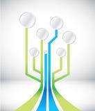 Circuit connection network illustration design Stock Photos