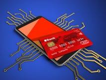 circuit 3D électronique photo libre de droits