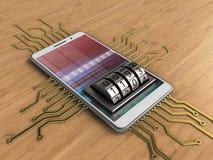 circuit 3D électronique Photographie stock libre de droits