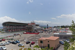Circuit de Catalunya. Image of the Circuit de Catalunya in which championships are held 125GP motorcycle Royalty Free Stock Image