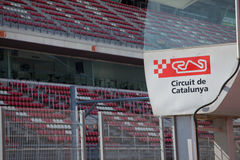 Circuit DE Catalunya - Catalaans race spoor Stock Afbeelding