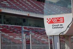 Circuit de Catalunya - katalanische Rennenspur stockbild