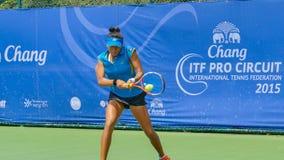 Circuit 2015 de Chang ITF (fédération internationale de tennis) pro photo libre de droits
