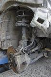 Circuit de freinage d'une voiture incidented Image libre de droits