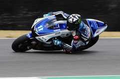 Circuit de MUGELLO - 13 juillet : Ben Spies Yamaha emballant à la session de qualification de MotoGP Grand prix de l'Italie, le 1 Photo libre de droits