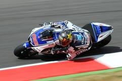 Circuit de MUGELLO - 13 juillet : Jorge Lorenzo d'équipe de Yamaha pendant la session de qualification de MotoGP Grand prix de l' Photos stock